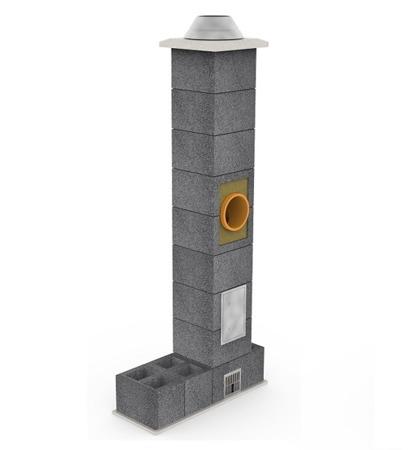 System kominowy KRUK UNIVERSAL 14M - z wentylacją - trójnik 45°