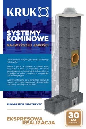 System kominowy KRUK UNIVERSAL 8M - poczwórna wentylacja - trójnik 90°