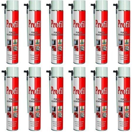 12x PIANA MONTAŻOWA WĘŻYKOWA SOUDAL PROFIL 750 ml