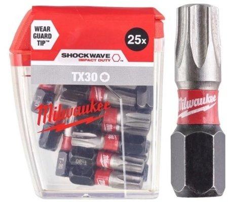 Bit udarowy MILWAUKEE SHOCKWAVE IMPACT DUTY TORX 25mm TX30 25szt